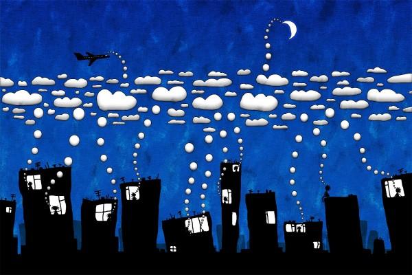Pensamientos almacenados en las nubes