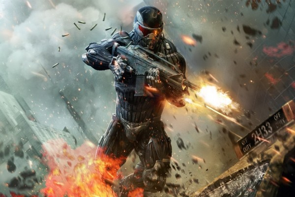 Soldado disparando, Crysis 2