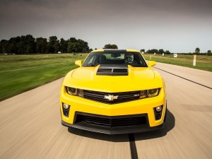 Pilotando un Chevrolet Camaro