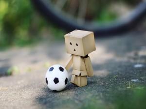 Postal: Danbo futbolero