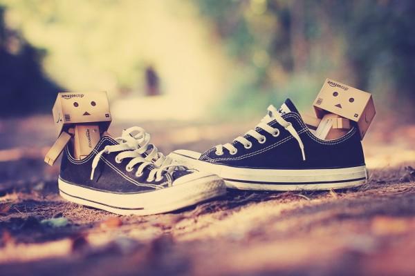 Danbo en las zapatillas de deporte