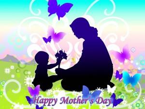 En el campo con mamá, en el Día de la Madre