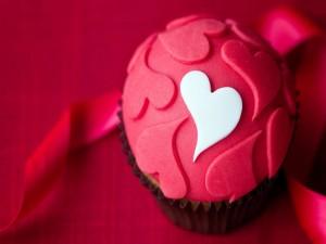 Postal: El cupcake del amor