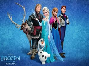"Postal: Personajes de la película ""Frozen"""