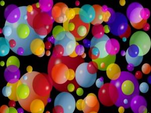 Gráfico vectorial con bolas de colores