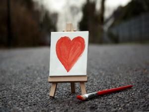 Corazón en un lienzo
