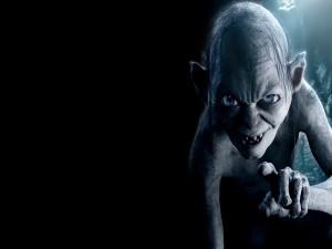 Postal: Gollum personaje de, El Señor de los Anillos y El Hobbit