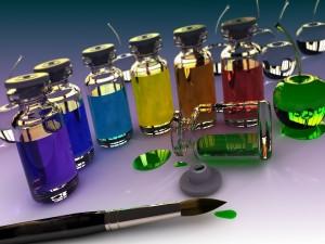 Postal: Pinturas en frascos de vidrio