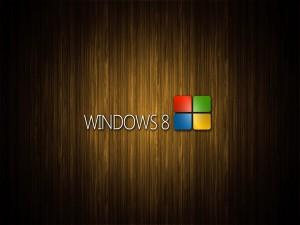 Windows 8 con fondo de madera
