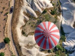 Carretera vista desde un aerostato
