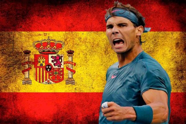 Rafa Nadal y bandera española