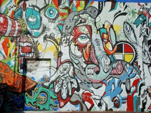 Postal: Mural callejero