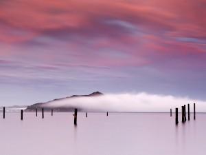 Nubes cubriendo la isla