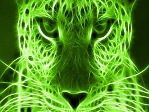 Postal: Leopardo verde