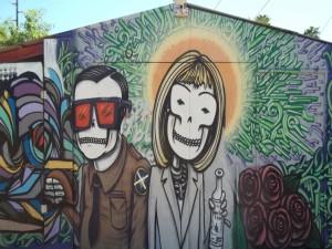Representación artística en una pared