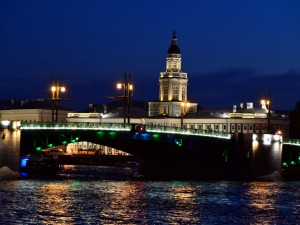 Postal: Puente en San Petersburgo