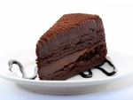 Pastel intenso de chocolate