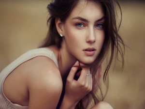 Chica con una bonita mirada