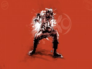 Dibujo de Pyro, personaje de Team Fortress 2