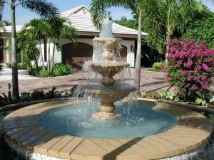 Postal: Fuente con agua en una casa