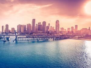 Vista del centro de Miami
