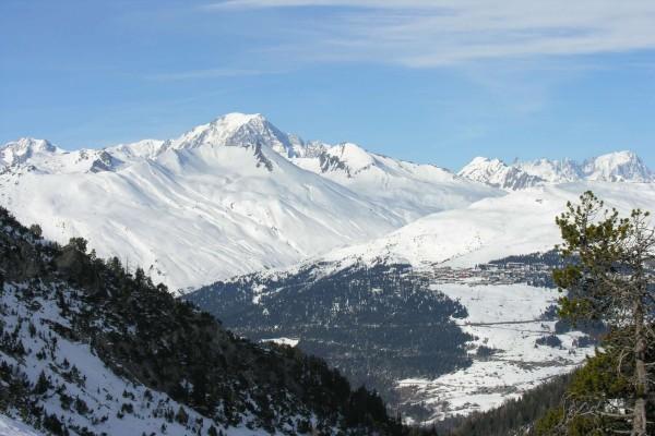 El Mont Blanc visto dede Les Arcs (Francia)