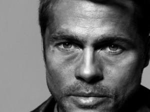 Postal: Mirada de Brad Pitt