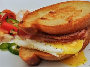 Postal: Sándwich con huevo