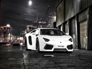 Lamborghini en el puerto