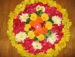 Gran círculo floral