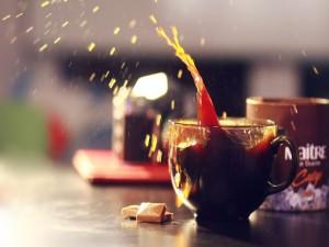 Postal: Salpicaduras de café