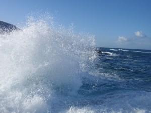 Movimiento del agua marina