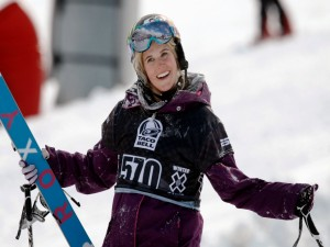 Postal: La esquiadora Sarah Burke