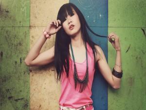 Postal: Joven modelo asiática