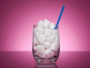 Vaso con azúcar