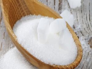 Postal: Cuchara de madera con azúcar