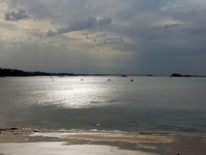 Postal: Playa en Saint Malo (Francia)