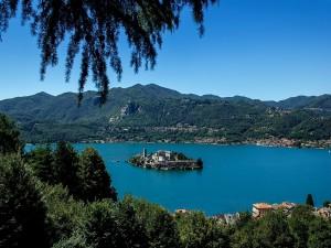 Lago de Orta, San Giulio, Italia