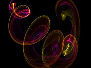 Líneas de colores formando círculos
