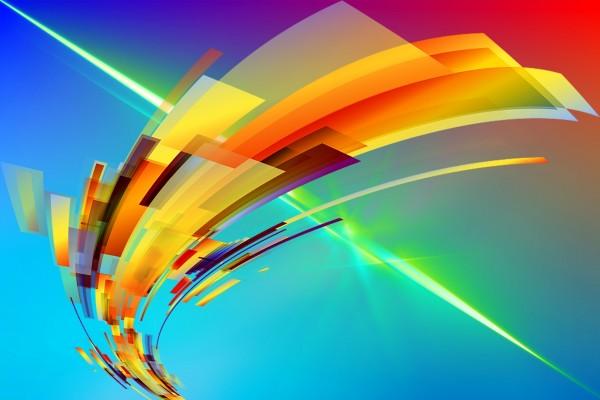 Líneas anchas y estrechas de colores