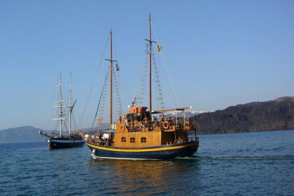 Disfrutando en el barco