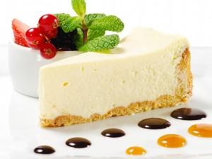 Postal: Un trozo de cheesecake
