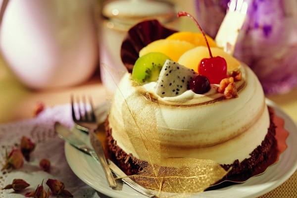 Suflé con frutas