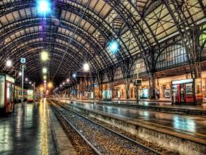 Postal: Estación libre de trenes