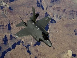 Postal: Avión de combate F 35