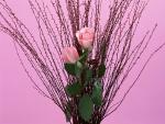 Arreglo floral con rosas de color rosa