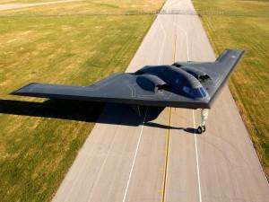 Un B-2 en pista