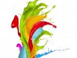 Pintura derramada de varios colores