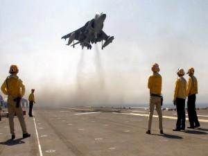 Despegando de un portaaviones
