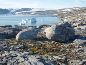 Postal: Bloques de hielo en el agua